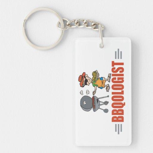 Funny BBQ Single-Sided Rectangular Acrylic Keychain