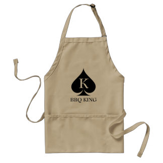 Funny BBQ king apron for men with spade symbol