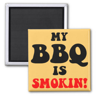 Funny bbq magnet