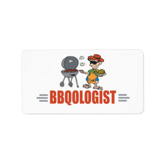 Funny BBQ Personalized Address Labels