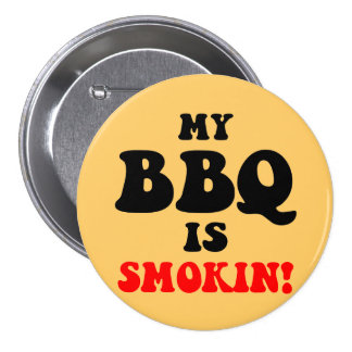 Funny bbq pinback button