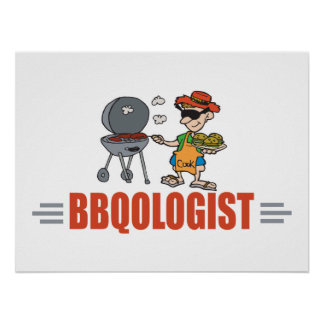 Funny BBQ Poster