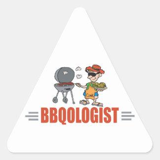 Funny BBQ Triangle Sticker