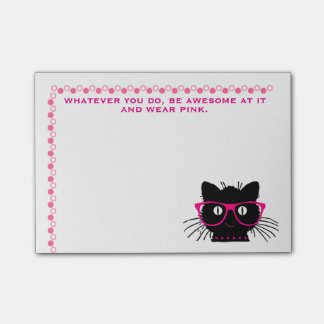 "Funny ""Be Awesome--Wear Pink"" Post-it Notes"
