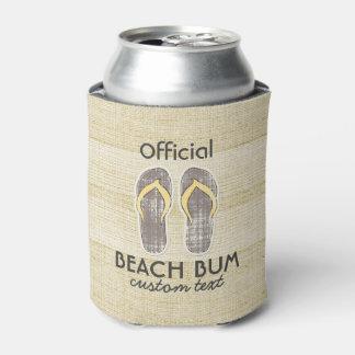 Funny Beach Bum Flip Flops Retro Vintage Can Cooler