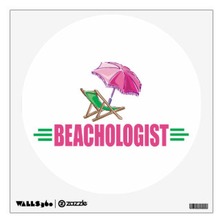 Funny Beach Chair Wall Sticker