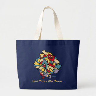 Funny Beach Large Tote Bag