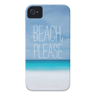 Funny beach, please tropical ocean photo hipster Case-Mate iPhone 4 case