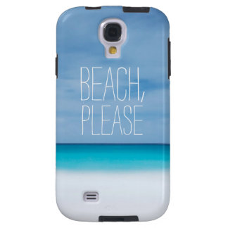 Funny beach, please tropical ocean photo hipster galaxy s4 case