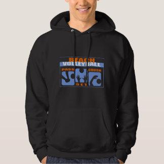 Funny Beach Volleyball Black T-Shirt