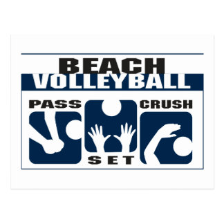 Funny Beach Volleyball Gift Postcards
