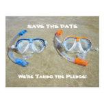 Funny Beach Wedding Save the Date Card Postcard