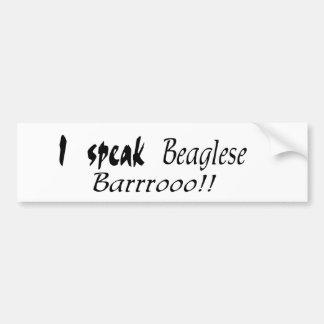 Funny Beagle Bark Bumper Stickers