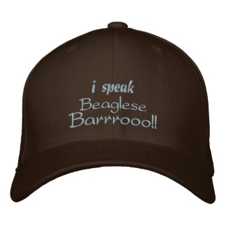 Funny Beagle Bark Embroidered Hat