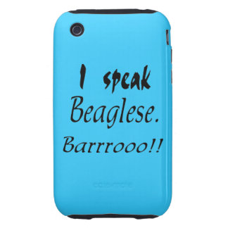 Funny Beagle Bark iPhone 3 Tough Covers