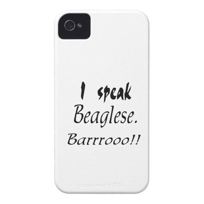 Funny Beagle Bark iPhone 4 Case-Mate Case