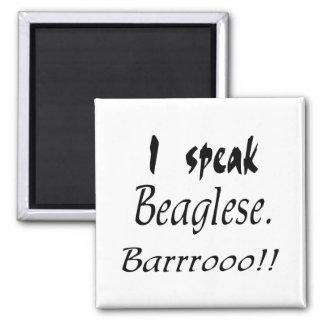 Funny Beagle Bark Fridge Magnet