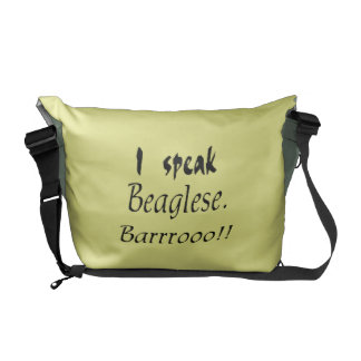 Funny Beagle Bark - Yellow Background Courier Bag