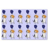 Funny Beagle Dog Birthday Tissue Paper