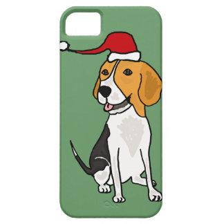 Funny Beagle Dog in Santa Hat Christmas Art iPhone SE/5/5s Case