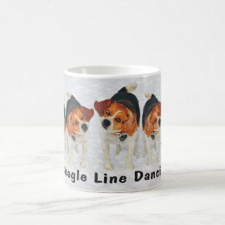 Funny Beagle Ears Flapping Beagle Line Dancing Coffee Mug