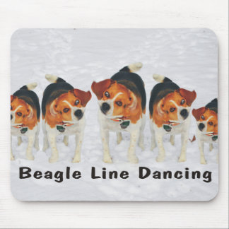 Funny Beagle Ears Flapping Beagle Line Dancing Mouse Pad