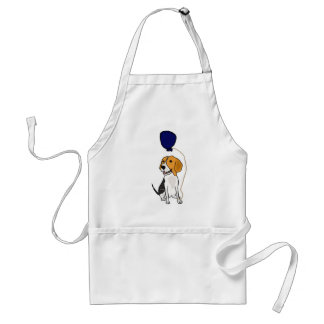 Funny Beagle Holding Balloon Aprons