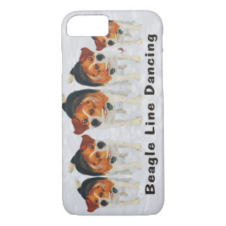 Funny Beagle Line Dancing iPhone 7 Case