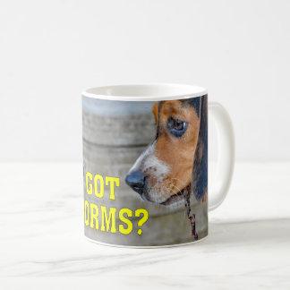Funny Beagle Puppy Got Worms? Coffee Mug