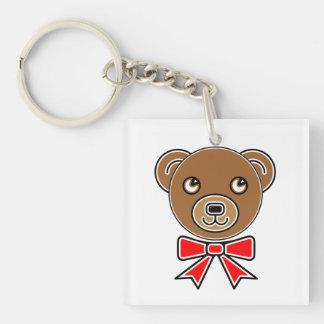 Funny bear face keychain