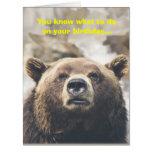 Funny Bear Giant Birthday Card Bear Pun Custom
