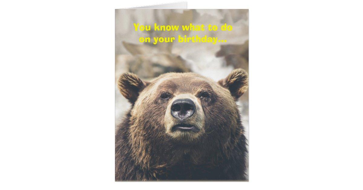 Funny Bear Giant Birthday Card Bear Pun Custom – Birthday Card Bear
