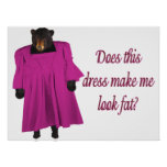 Funny Bear In Dress Posters
