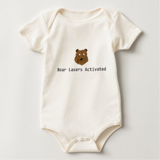 Funny Bear Lasers Activated Baby Bodysuit