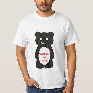 funny bear likes waffles T-Shirt