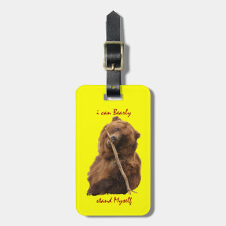 Funny Bear Luggage Tags