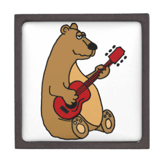 Funny Bear Playing Guitar Gift Box