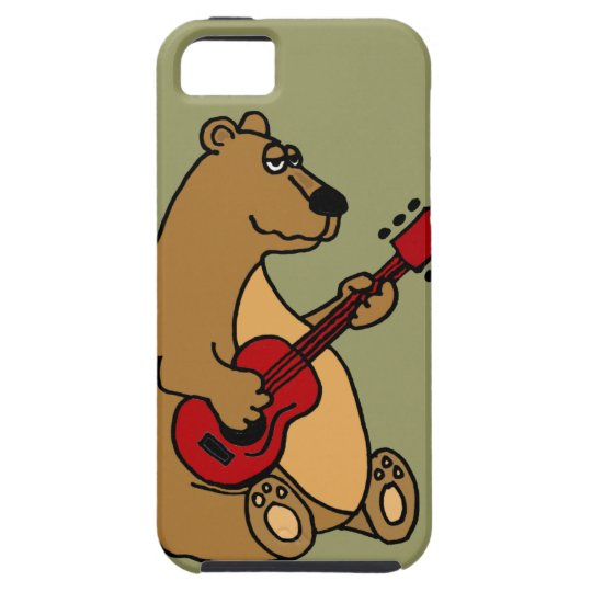 Funny Bear Playing Guitar iphone5 Case