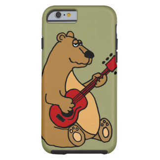 Funny Bear Playing Guitar iPhone 6 case