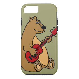 Funny Bear Playing Guitar iPhone 7 case