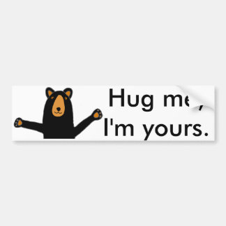 Funny Bear Ready for Hug Cartoon Bumper Sticker