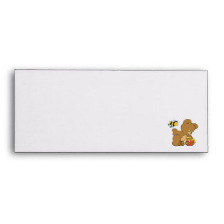 Funny Bear Sneaking Honey Envelope