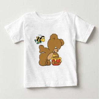 Funny Bear Sneaking Honey Tee Shirt