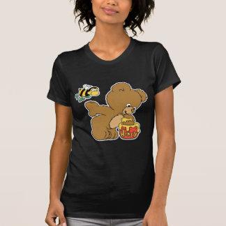 Funny Bear Sneaking Honey Tee Shirts