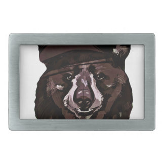 Funny Bear with Hat Belt Buckle