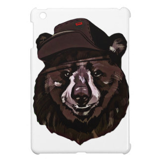 Funny Bear with Hat Case For The iPad Mini
