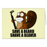 Funny beard greeting cards