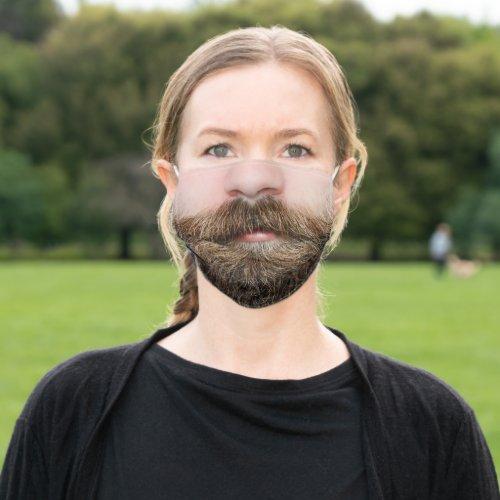 Funny beard mouth photo cloth face mask