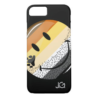 Funny Bearded Happy Gay Bear Pride Flag iPhone 8/7 Case