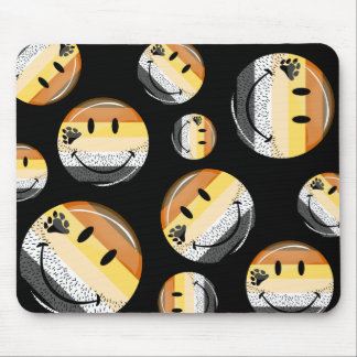 Funny Bearded Happy Gay Bear Pride Flag Mouse Pad